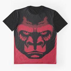 ZyuohGorilla. Available on Redbubble and Society6.  #Zyuohger #Zyuman #Gorilla #Larry #SuperSentai #Tokusatsu #Red #Gorilla #PowerUp #PowerRangers #TV #Children #Japan #Geek #GraphicTee #Redbubble #Society6