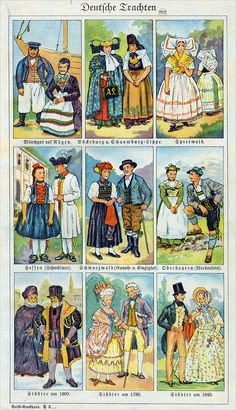 Traditional Dresses, Traditional Art, Folk Costume, Costumes, German Costume, German Folk, Textiles, Black Forest, Antique Books