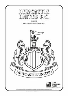 Newcastle United F.C. logo coloring / Coloring page with Newcastle United F.C…