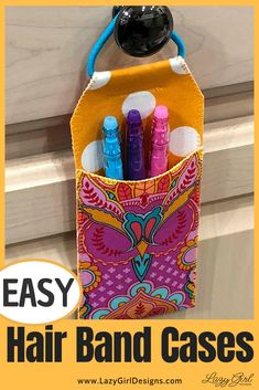 This quick and easy case by Lazy Girl Designs is perfect for storing your sewing notions. The closure allows it to be hung for easy access. Great to use up those left over fabrics #seeing # notions #beginningsewing