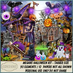 Megans Halloween Kit (TS/PU/S4H) [CCD] : Scrap and Tubes Store, Digital Scrapbooking Supplies