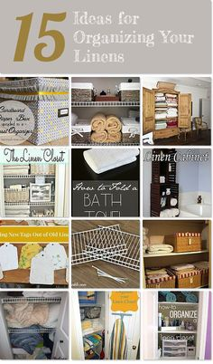 15 fantastic ideas for organizing your linens