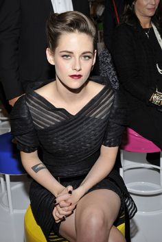 Kristen Stewart front row at Chanel Resort 2016 [Photo by Stephane Feugere]