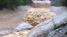Powerful Flash Flood Carried Large Boulders in Switzerland