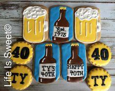 Facebook.com/lifeissweetcookie. 40th birthday cookies