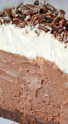 Chocolate Cream Pie ~ A chocolate graham crust, a decadent chocolate cream filling, a fresh whipped cream.