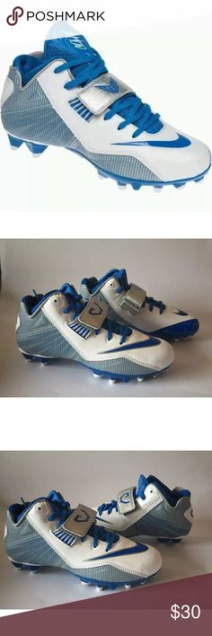 Nike CJ81 Strike 2 TD GS Football Cleats Sz 5Y Nike CJ81 Strike 2 TD GS Football Cleats Blue/White 643163-140 Megatron Sz 5Y  Brand : Nike   Style Number : 643163-140  Color : Blue/White  Material : Synthetic Leather  Size : 5Y  Brand new.  No box.  Never worn.    FREE S&H Nike Shoes Sneakers