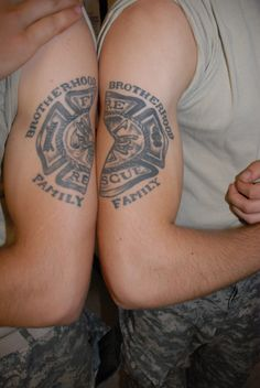 this is awesome! sometimes i wish i was a guy! Firefighter Tattoos! #Brother tattoos