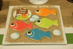 Gone Fishing themed birthday party via Kara's Party Ideas KarasPartyIdeas.com | Cupcakes, favors, recipes, desserts, and more! #fishingparty #gonefishing #partydecor #partyideas #partydesign (18)