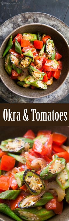 The best way to eat okra! Sliced and quickly seared on high heat, then cooked with fresh tomatoes, onions, and jalapenos. On SimplyRecipes.com