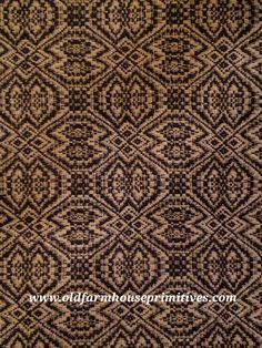 Primitive Black And Tan Pebble Brook Brown Kitchen Designs, Brown Kitchens, Weaving Textiles, Select Option, Menu, Drop, Primitives, Black, Primitive