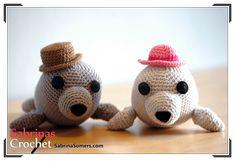 Foca Amigurumi ( 17cm) - Patrón Gratis en Español e Inglés aquí: http://www.sabrinasomers.com/free-crochet-pattern-seal-spanish.php