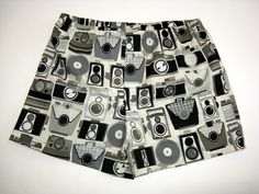 Mens Boxer Shorts for the Photographer High by SewnWithPassion