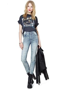 Cheap Monday Second Skin Advanced Blue Jeans.