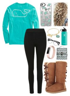 """""""Untitled #123"""" by alyssa-wilsonn ❤ liked on Polyvore featuring UGG, Hydro Flask, Alex and Ani, Casetify, Vera Bradley and Fitbit"""
