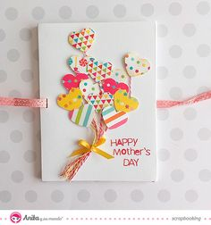 Ideas For Diy Crafts Paper Cards Gifts Mothers Day Crafts, Happy Mothers Day, Cute Cards, Diy Cards, Tarjetas Diy, Diy And Crafts, Crafts For Kids, Beautiful Handmade Cards, Paper Cards
