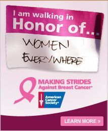 We support Making Strides Against Breast Cancer! Who do you fight cancer for?