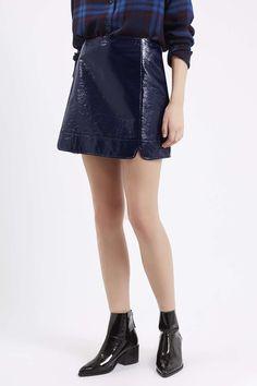 Vinyl A-Line Skirt - Topshop
