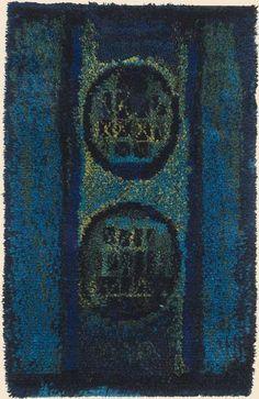 Ryijy elää Rya Rug, Wool Rug, Penny Rugs, Rug Hooking, Fabric Art, Floor Rugs, Textile Art, Weaving, Carpet