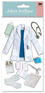 Medical > Female Doctor 3D Stickers - Jolee's Boutique: Stickers Galore