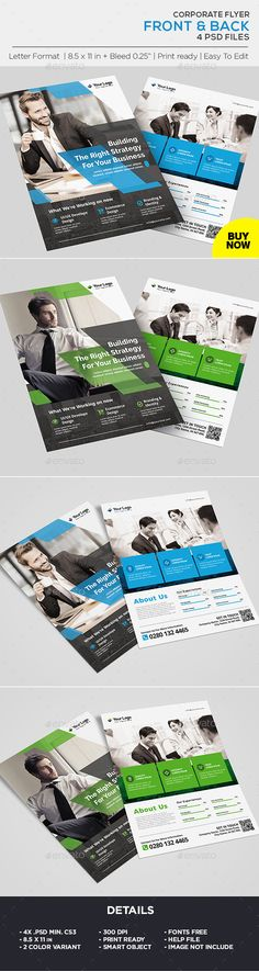 Buy Corporate Business Flyer by on GraphicRiver. Corporate Business Flyer Template All elements beside the image are fully editable CMYK – print ready Letter: Corporate Flyer, Corporate Business, Business Cards, Business Flyer Templates, Label Templates, Marketing Flyers, Business Marketing, Creative Flyers, Creative Design