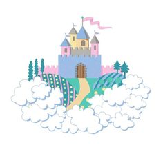 Elephants On the Wall Mini Princess Castle - Wall Sticker Outlet