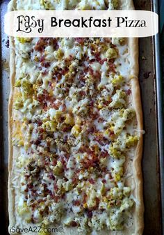 Easy Breakfast Pizza Recipe! Make with any toppings you like! #easyrecipes #bestrecipes