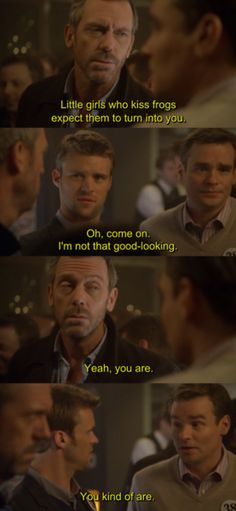 charming life pattern: house m.d - quote - hugh laurie Ha. And now he plays a hot firefighter Gregory House, Tv Show Quotes, Movie Quotes, Funny Quotes, Greys Anatomy, House And Wilson, House Md Quotes, Sean Leonard, Everybody Lies
