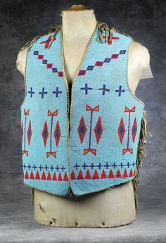 Blackfeet Beaded and Fringed Man's Vest