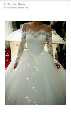 Beautiful lace long sleeve wedding dress