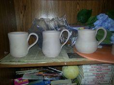 Mugs drying.   By Deidre Morgan