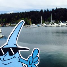 MC Drip hangs out at the Harbor during the Gig Harbor Lighthouse 25th Anniversary.