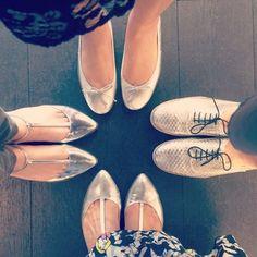It's all silver at @isabelledehovre Press days  ! #pressday #newcollection #presentation #fw16 #charleston #brunella #capri #balletflats by lolotheballerina
