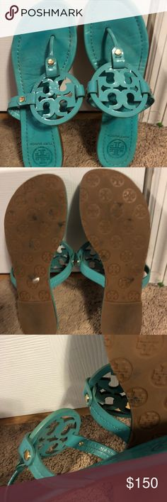 Tory Burch Miller Sandals Tory Burch Miller Sandals. Used but with much life left. Hard to find color. Size 10. Will clean before shipping. Tory Burch Shoes Sandals