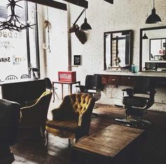 Love all the elements of this room. Vintage, industrial and luxe.