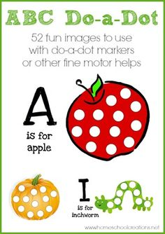 Free Worksheets: Alphabet Do-a-Dot Marker Printables