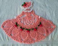 Rose Garden Crinoline Girl Doily