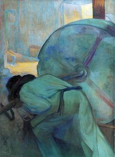 Saturnino Herran - El molino de vidrio, Mexico. (The Glass Crusher - Saturnino Herran, Mexico)