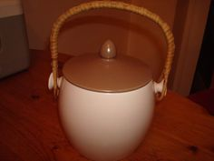 POOLE POTTERY CLASSIC BISCUIT BARRELL in Pottery, Porcelain & Glass, Pottery, Poole | eBay