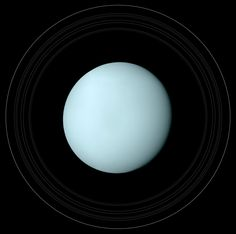 uranus . . . scientists say that this planet is so consistent in its color that it doesn't look real.