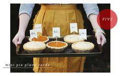 thanksgiving-pie place cards, fun idea