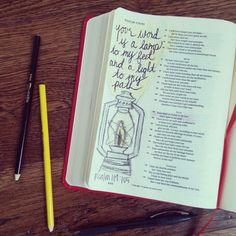 Open your Bible Day 10 #shereadstruth Psalm 119:105 Your word is a lamp unto my feet and a light to my path!