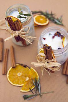 DIY Christmas Candles - heylilahey.