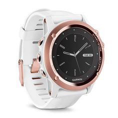 fēnix 3 Sapphire Rose Gold-tone with White Band