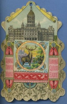 Rare-Die-Cut-HARTFORD-SEWING-MACHINE-Victorian-Trade-Card-HARTFORD