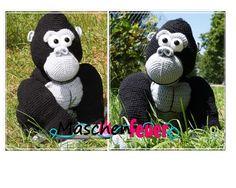 Gorilla Jengo, Häkelanleitung von Maschenfeuer auf DaWanda.com