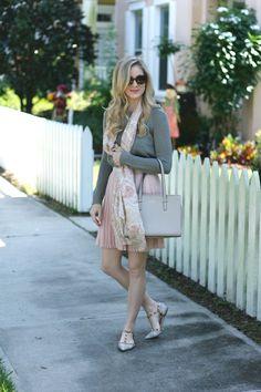 Blush Pleated Skirt | A Daydream Love