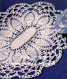 Oblong Pineapple doily free vintage crochet doilies patterns