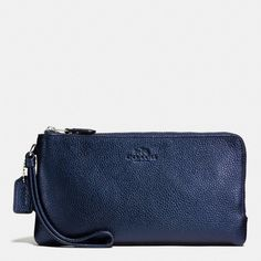 Coach Pebble Leather Double Zip Wallet METALLIC MIDNIGHT Wristlet. Get the trendiest Clutch of the season! The Coach Pebble Leather Double Zip Wallet METALLIC MIDNIGHT Wristlet is a top 10 member favorite on Tradesy. Save on yours before they are sold out!