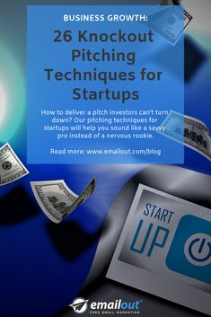 How to deliver a pitch investors can't turn down? Our 26 pitching techniques for startups will help you sound like a savvy pro instead of a nervous rookie. Free Email Marketing, Online Marketing, Digital Marketing, Revenue Model, Action Words, Have Faith In Yourself, What If Questions, You Sound